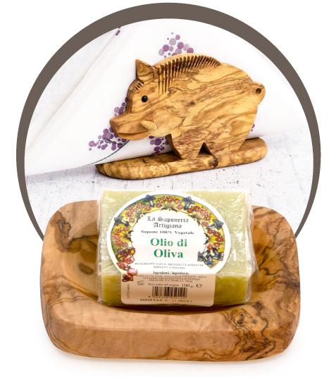 Oggettistica in legno di Ulivo - D'olivo